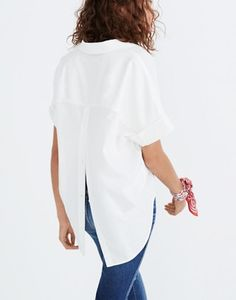 cd4d241467e58 Courier Button-Back Shirt in Pure White