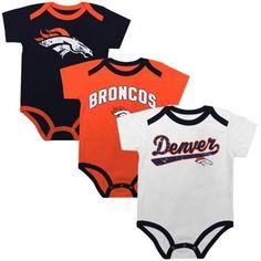 Amazon.com   NFL Denver Broncos Newborn 3-Piece Creeper Set - Black Orange White  (0-3 Months)   Clothing 3c5e7c19d