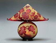 Art Nouveau Emile Galle lamp c1900