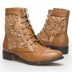 G by GUESS Aretta Women's Lace-up Boots, Brown ($63) ❤ liked on ...
