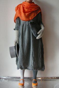 Daniela Gregis, Arancione Washed Shawl