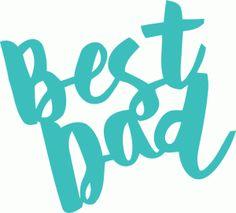 View Design #79596: best dad handlettering brush script