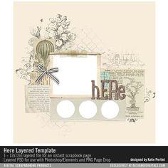 Here Layered Template- Katie Pertiet - PSE/PS Templates- LT921393- DesignerDigitals