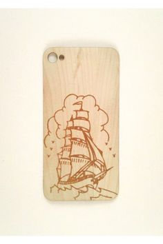 The Fartsy Ship Wood iPhone 4/4S Skin