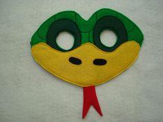 Children's Green Snake Felt Animal Mask by magicalattic on Etsy