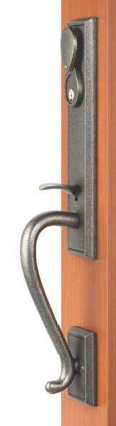 Rockwell Premium Solid Brass San Jose Entry Door Handle Set In Distressed  Nickel Finish