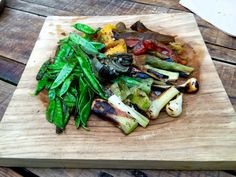 Grilled organic vegetables with Maldon salt. The tastiest ones I've ever tried.