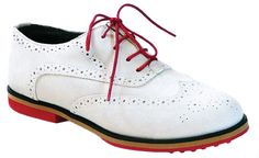 A little white wingtip golf shoe for the ladies.... #ladiesgolf #whiteshoes #golfshoes