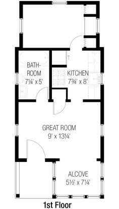 Cottage Style House Plan - 1 Beds 1 Baths 404 Sq/Ft Plan #915-8 Floor Plan - Main Floor Plan - Houseplans.com