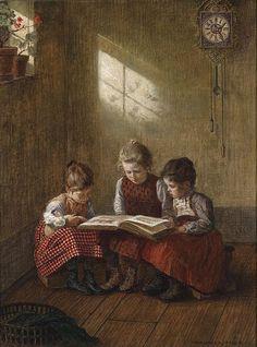 """""""Spannende Lektüre"""", 1929. Walther Firle (1859–1929)."""