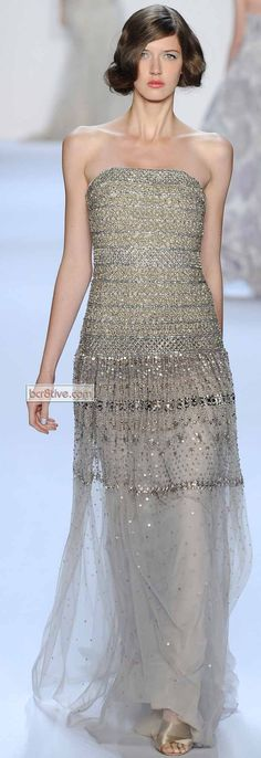 "Badgley Mischka * Spring 2014 #NYFW #gowns,✮✮Feel free to share on Pinterest"" ♥ღ www.FASHIONANDCLOTHINGBLOG.COM"