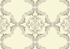 White Moth Circle Wallpaper by Timorous Beasties