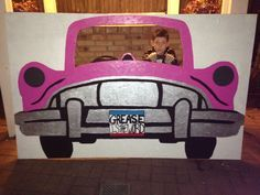 Car Photo Prop Grease Plus Grease Themed Parties, 50s Theme Parties, Grease Party, Sock Hop Decorations, Dance Decorations, Dance Themes, Diner Party, Party Fiesta, 50th Party