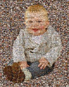 Custom Photo Mosaic Print Art Made From Your by TheMosaicGuy