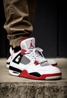 40215662365c78 Jordan 4 s Fire Red Khaki Running Shoes Nike