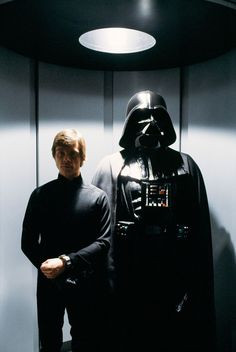 Luke Confronts Darth Vader scene from Star Wars Episode 6 Return of the Jedi movie. The fantasy film stars Mark Hamill, Harrison Ford, Carrie Fisher. Luke Star Wars, Star Wars Art, Star Trek, Star Wars Film, Images Star Wars, Star Wars Pictures, Star Citizen, Disfraz Darth Vader, Star Wars Dark Side