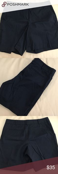 "Talbots Shorts Two Front Pockets. Belt Loops. Navy. Size 6. Extra Button Included. Machine Wash & Tumble Dry Low. Length from Top to Bottom is about 17"". Inseam is about 8"". Waist is about 17"". Talbots Shorts"