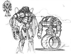 Sketch-a-day, Spencer Nugent.  Principles of design in use: Dominance, contrast, proportion.