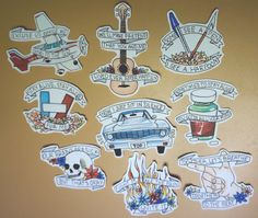Twenty One Pilots Sticker Set Full Set by delinqwentz on Etsy