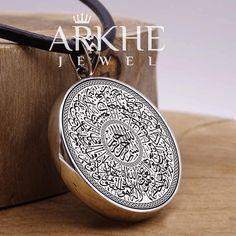 Ayetel Kürsi Yazılı Gümüş Kolye - Arkhe Jewel Coin Purse, Wallet, Purses, Handbags, Purse, Bags, Diy Wallet, Coin Purses