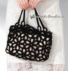 Сумка крючком цветочными мотивами Crochet Market Bag, Crochet Tote, Crochet Handbags, Crochet Purses, Crochet Crafts, Crochet Stitches, Knit Crochet, Crochet Patterns, Crochet Hammock