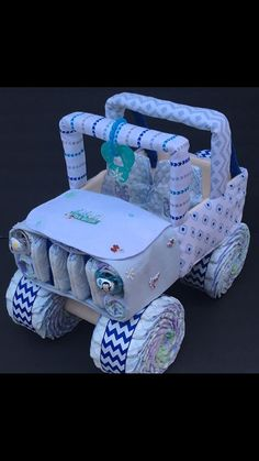 Baby its cold outside jeep diaper cake unique baby gift