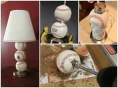 Perfect Cheap Gift for Baseball Lovers: DIY Baseball Table Lamp Table & Desk Lamps