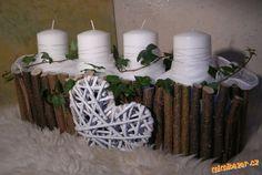 ADVENTNÍ SVÍCEN TRUHLÍK VYUŽITELNÝ CELOROČNĚ Advent, Christmas Decorations, Table Decorations, Candle Holders, Xmas, Candles, Home Decor, Funny, Decoration Home
