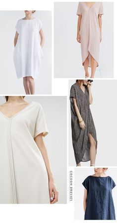 cocoon dresses-- top right in light grey