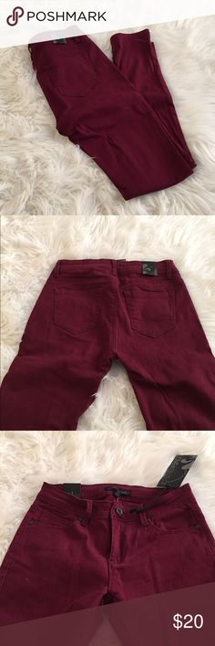 Maroon Pants Adorable maroon colored skinny jeans. Never used.  » Offers through the offer button  » Bundling discounts available  » No trades » NWT Love Culture Pants Skinny