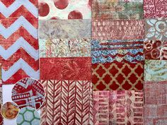 Handmade Papers using a Gelli Plate for use in Collages, Art Journals, Mixed Media Art, Scrapbooks, Smash Books, Cards, Crafts