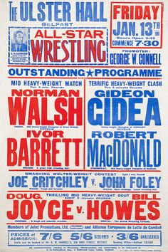 Delicious Industries: British Wrestling Posters
