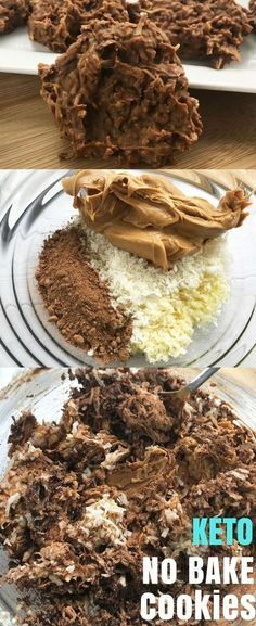 If you are on the Keto Diet, but have a sweet tooth, you'll love these Keto No Bake Cookies. Keto No Bake CookiesI love No Bake Cookies. Keto Desserts, Keto Snacks, Dessert Recipes, Milk Recipes, Cheese Recipes, Recipes Dinner, Cookie Recipes, Flour Recipes, Donut Recipes