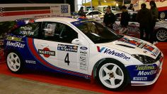 The late Colin Mcrae in the Martini Ford Focus WRC Ford Focus, Focus Rs, Rallye Wrc, Ford Motorsport, Toyota Supra Mk4, Colin Mcrae, Eco Friendly Cars, Martini Racing, Lifted Ford Trucks