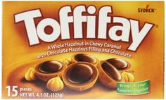 Toffifee Whole Hazelnut in Nougat Cream Filled Caramel 12 Pieces Chocolate Sticks, Chocolate Babies, Chocolate Toffee, Chocolate Caramels, Chocolate Gifts, Chocolate Hazelnut, Chocolate Pack, Toffee Candy Bar, Toffee Popcorn