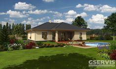 Rodinný dům Bungalow 05 - typový projekt G SERVIS