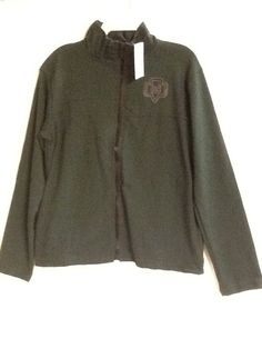 Girl Scouts Green Jacket Junior Zip Front Small or Medium Short Sleeve New! #GirlScouts #Jacket