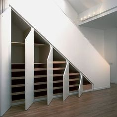 Closets under the stairs.