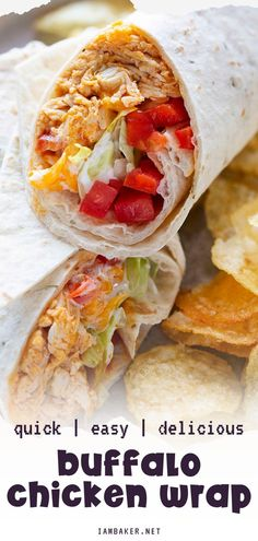 Yummy Chicken Recipes, Meat Recipes, Cooking Recipes, Burger Recipes, Delicious Recipes, Dinner Recipes, Buffalo Chicken Wraps, Lettuce Wrap Recipes, Recipes With Few Ingredients