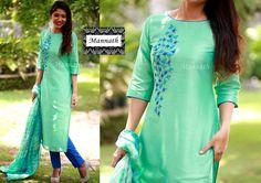 Latest Salwar Kameez Designs, Salwar Neck Designs, Kurta Neck Design, Dress Neck Designs, Saree Blouse Designs, Chudidhar Designs, Kalamkari Dresses, Salwar Pattern, Kurti Embroidery Design