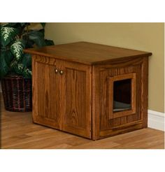 Exceptionnel Amish Made Cat Litter Box Cabinet