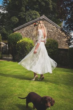 Stunning bride, Lucy, looked gorgeous in her House of Ollichon bridal skirt and top. Shop the complete collection of bridal separates and jumpsuits now at http://houseofollichon.co.uk/shop #bridalskirt #bridalwear #twopiece