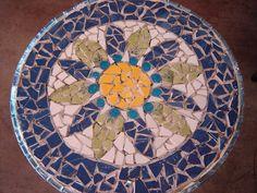 Flower mosaic table