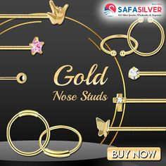 Safasilver - Wholesale Silver jewelry Buy wholesale gold nose jewelry from an exciting and trendy collection at safasilver.com. We supply 9K & 14K solid nose rings to our valued customers. #gold #nose #stud #ball #stone #plain #nosepin #pin #14k #9k #14carat #9carat #nosering #nosescrew #handmade #fashion #likeforfollow #jewelrydesigner #jewelryaddict #style #follow