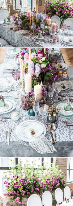 Beautiful Vintage Wedding Tablescape - get all the supplies needed to create your own beautiful vintage inspired reception tables here.