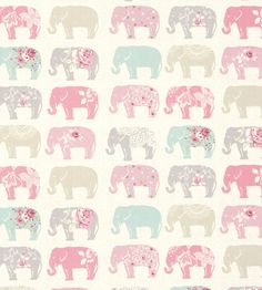 How to Style | Girls Rooms | Elephants Fabric by Clarke & Clarke | Jane Clayton