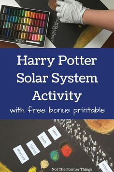 Harry Potter Solar System Activity (with free bonus printable) - Not The Former Things Harry Potter School, Harry Potter Classroom, Science Lessons, Science Activities, Montessori Science, Science Labs, Science Curriculum, Weird Science, Science Ideas
