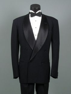 Mens Vintage Tuxedo 1940s Black AFTER SIX Rudo by jauntyrooster, $199.00