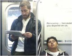 Jack Gyllenhaal | Celebrities on the Subway in New York City