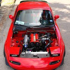 texasturboworks Picture by TopMiata mazda Mazda Cars, Mazda Miata, Jdm Cars, Slammed Cars, Miata Engine, Car Engine, Japanese Sports Cars, Japanese Cars, Miata Mods